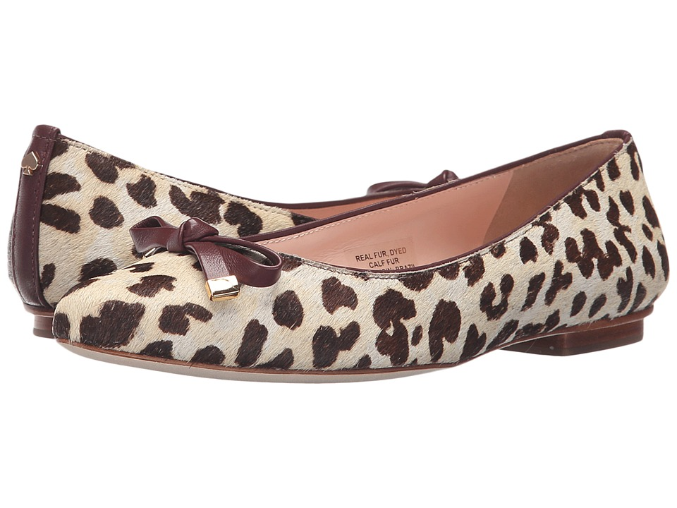 Kate Spade New York - Emma (Blush/Brown Leopard Haircalf Print/Red Chestnut Nappa) Women's Shoes