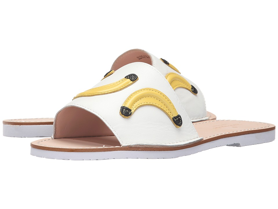 Kate Spade New York - Ivone (White Tumbled Leather/Lemon Yellow/Green Nappa) Women