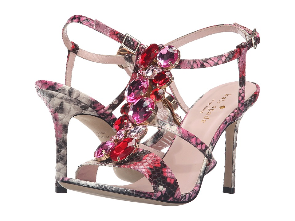 Kate Spade New York - Imias (Multi Pink Daisy Snake Printed Leather) Women's Shoes