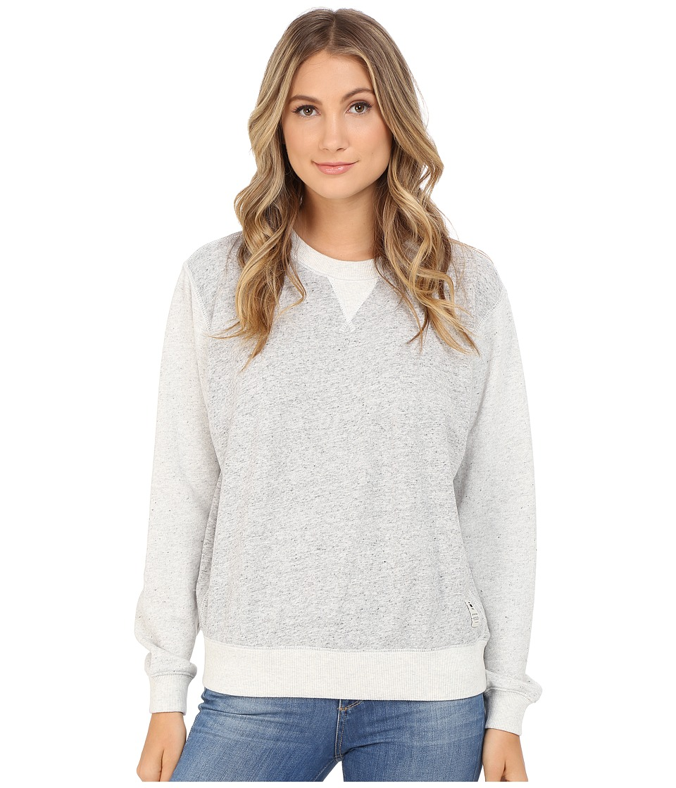 G-Star - Sipal Boyfriend Crew Neck Sweater in Premium Sherland Sweat (Grey Heather) Women's Sweater