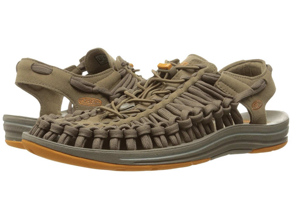 Keen - Uneek Flat (Shitake/Golden Oak) Men's Shoes