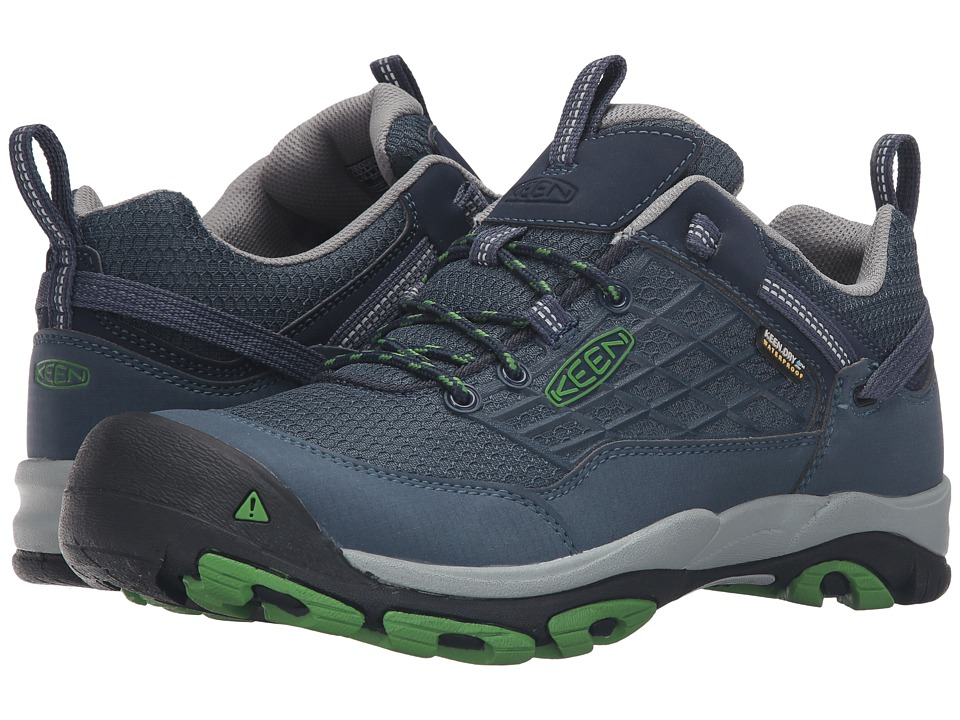 Keen - Saltzman WP (Dress Blues/Online Lime) Men's Shoes