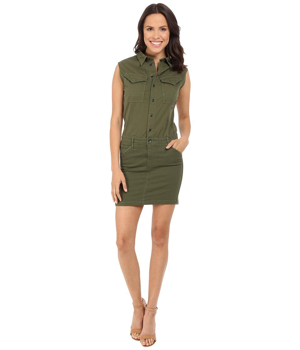 G-Star Rovic Slim Sleeveless Dress in Trone Superstretch Twill (Bright Rovic Green) Women