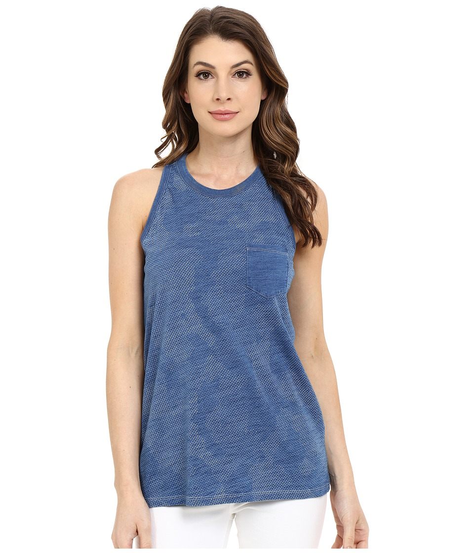 G-Star Rocil Slim Tank Top in Lightweight Indigo Jersey (Light Aged) Women