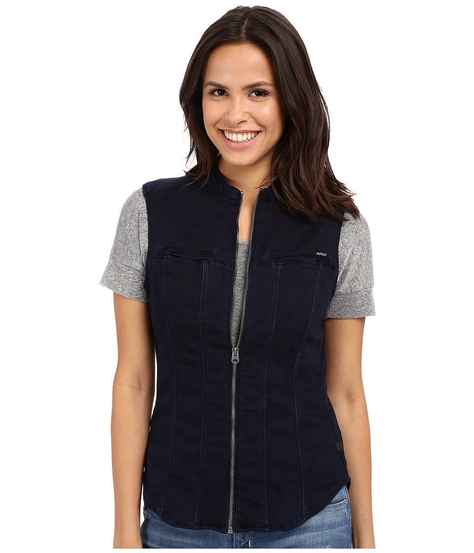 G-Star - Midge Dumont Slim Shirt in Lightweight Slander Superstretch (Medium Aged) Women's Vest