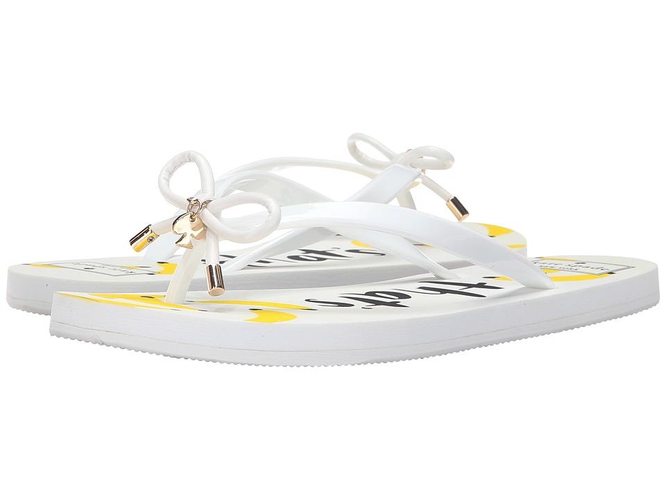 Kate Spade New York - Nova (White Shiny Rubber/Thats Bananas Print) Women's Sandals