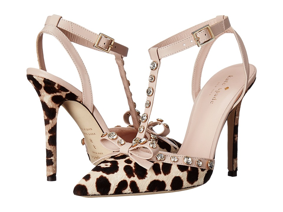 Kate Spade New York - Lydia (Blush/Brown Leopard Haircalf Print/Pale Pink Nappa) Women's Shoes