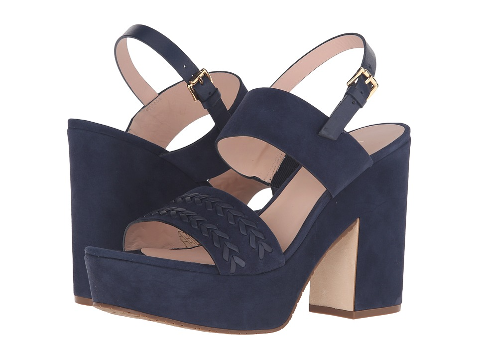 Kate Spade New York - Rosa (Navy Kid Suede/Navy Vacchetta) Women's Shoes
