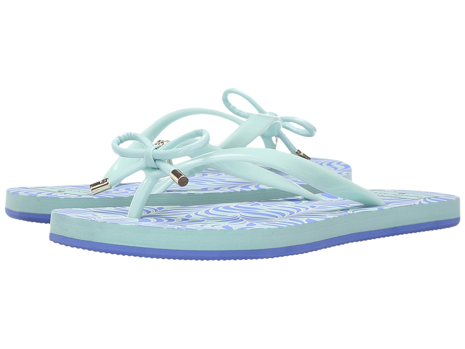 Kate Spade New York - Nova (Carribean Sky Shiny Rubber/Adventure Blue Seafern Print) Women's Sandals