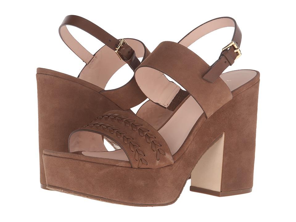 Kate Spade New York - Rosa (Navy Kid Suede/Navy Vacchetta) Women's Shoes