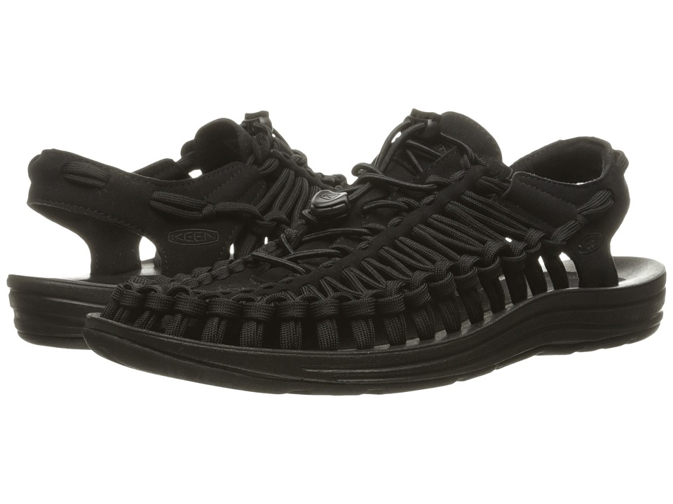 Keen - Uneek Flat (Black/Black) Men's Shoes