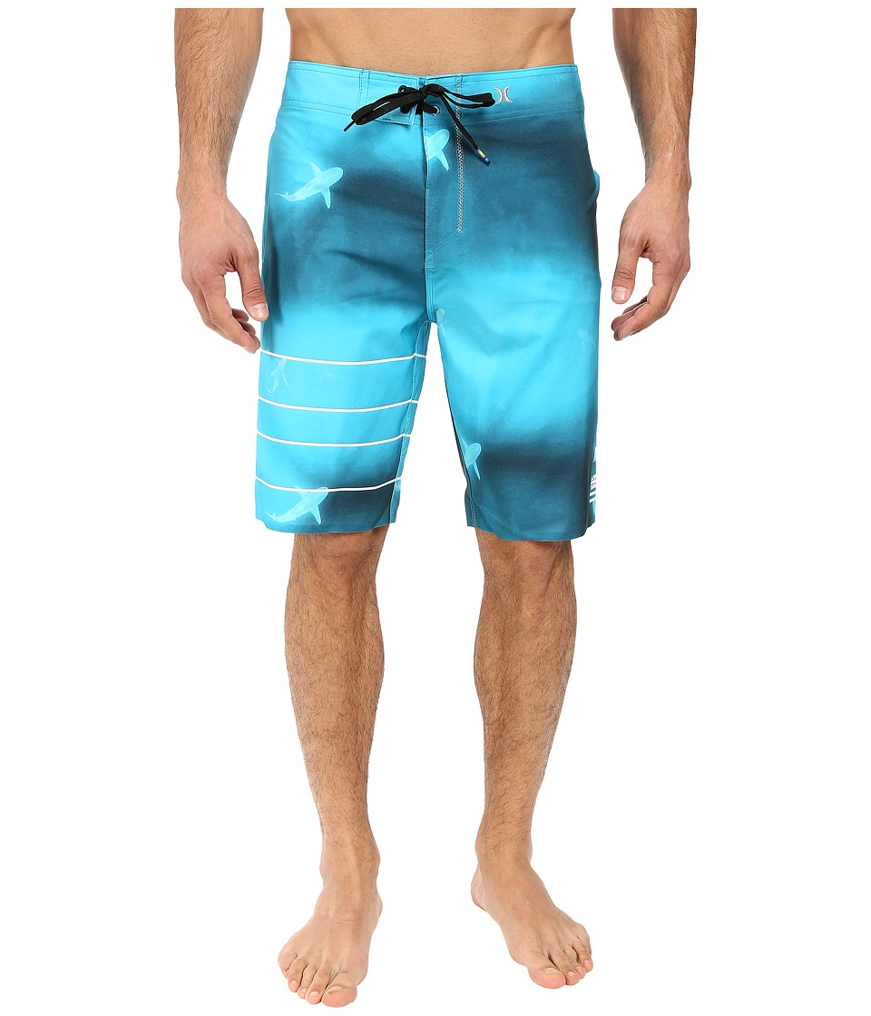 Hurley - Phantom Clark Little Shark 21 Boardshorts (Cyan) Men's Swimwear