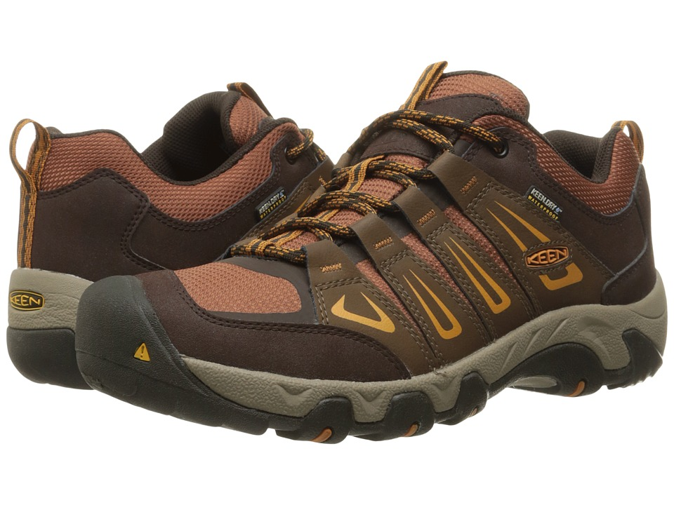 Keen - Oakridge Waterproof (Dark Earth/Tortoise Shell) Men's Waterproof Boots