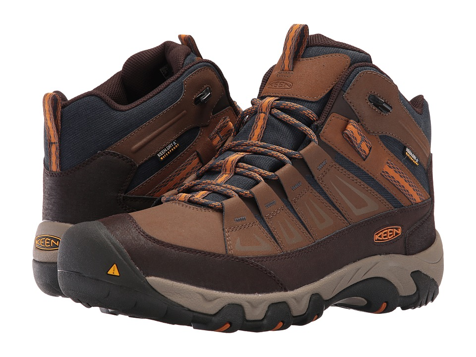 Keen - Oakridge Mid Polar Waterproof (Dark Earth/Tortoise Shell) Men's Waterproof Boots