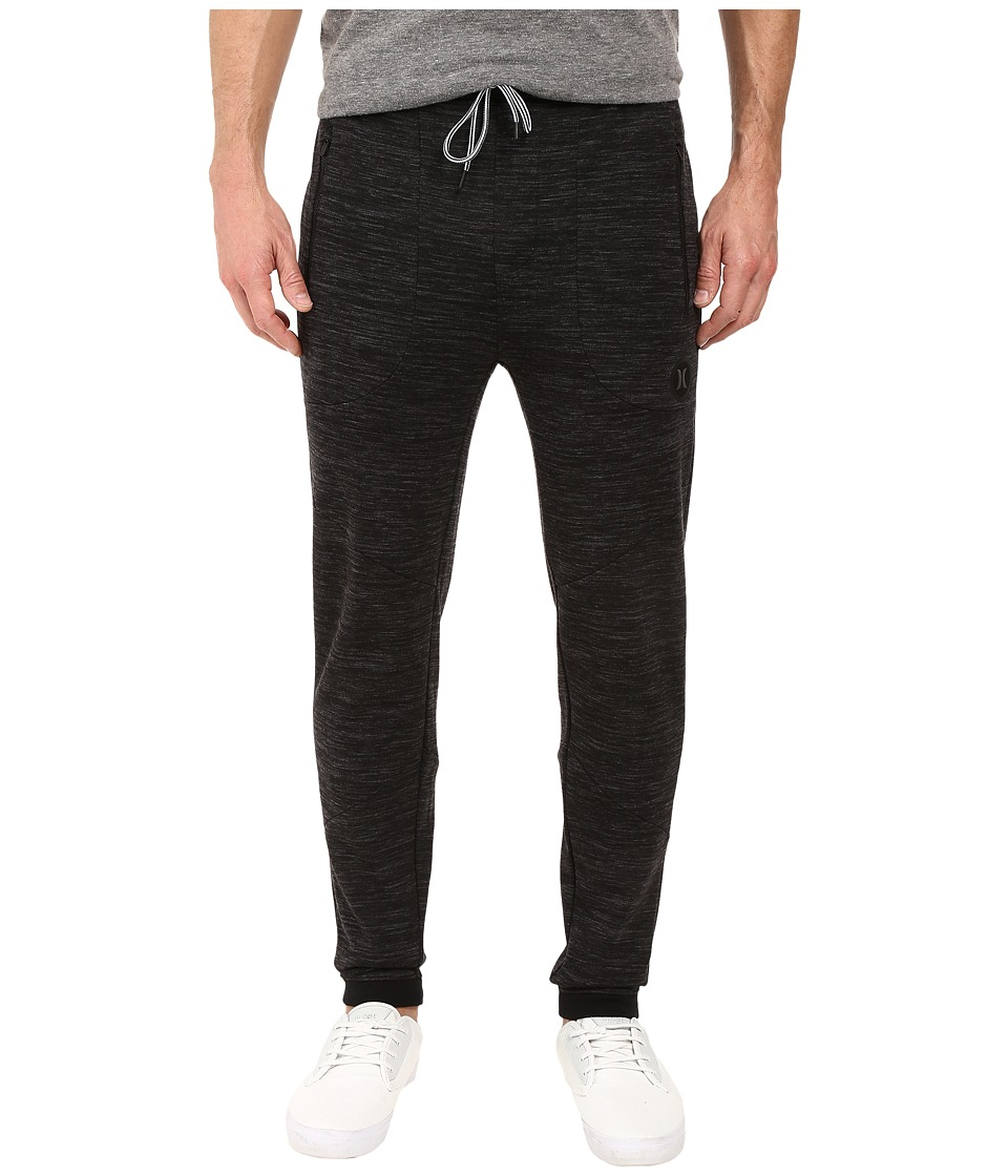 Hurley - Phantom Tech Fleece Jogger (Black Heather) Men's Casual Pants