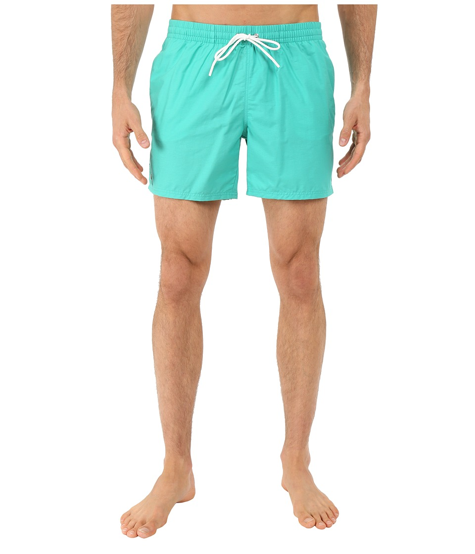 Lacoste - Taffeta Swimming Trunk (Papeete/White) Men's Swimwear