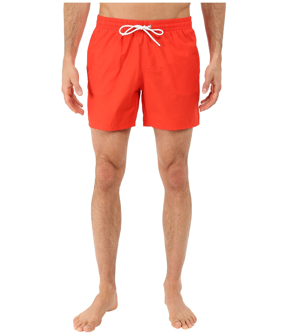 Lacoste - Taffeta Swimming Trunk (Etna Red/White) Men's Swimwear