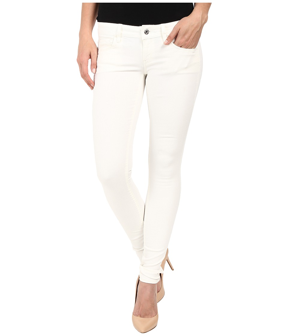 G-Star - 3301 Deconstructed Low Super Skinny in White Talc Superstretch 3D Aged (White Talc Superstretch 3D Aged) Women's Jeans