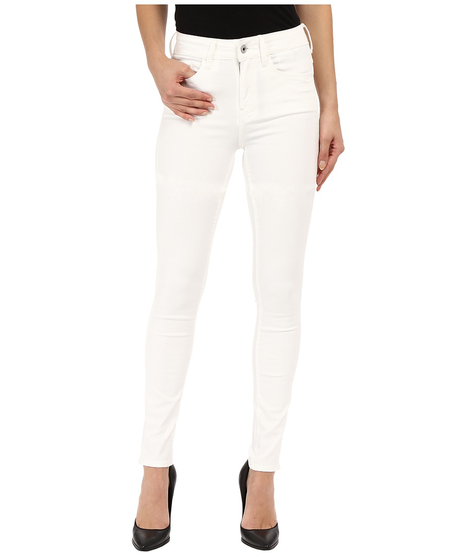 G-Star - 3301 Deconstructed Ultra High Skinny in White Talc Superstretch 3D Aged (White Talc Superstretch 3D Aged) Women's Jeans