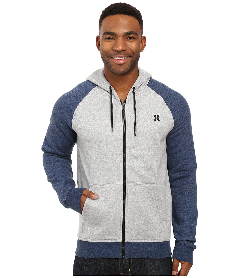 Hurley - Getaway 2.0 Zip Hoodie (Pure Platinum) Men's Sweatshirt