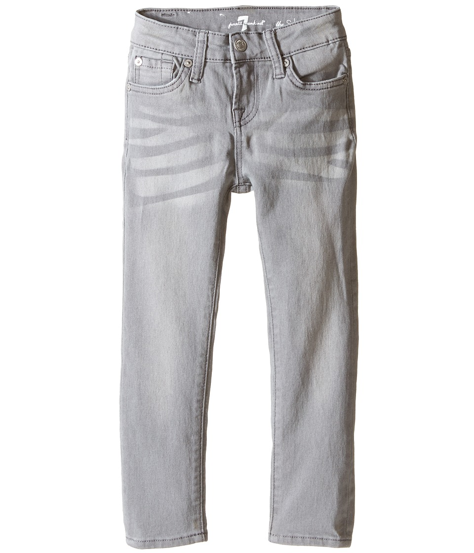 7 For All Mankind Kids - The Skinny Five-Pocket Jeans in Sterling Grey (Little Kids) (Sterling Grey) Girl's Jeans