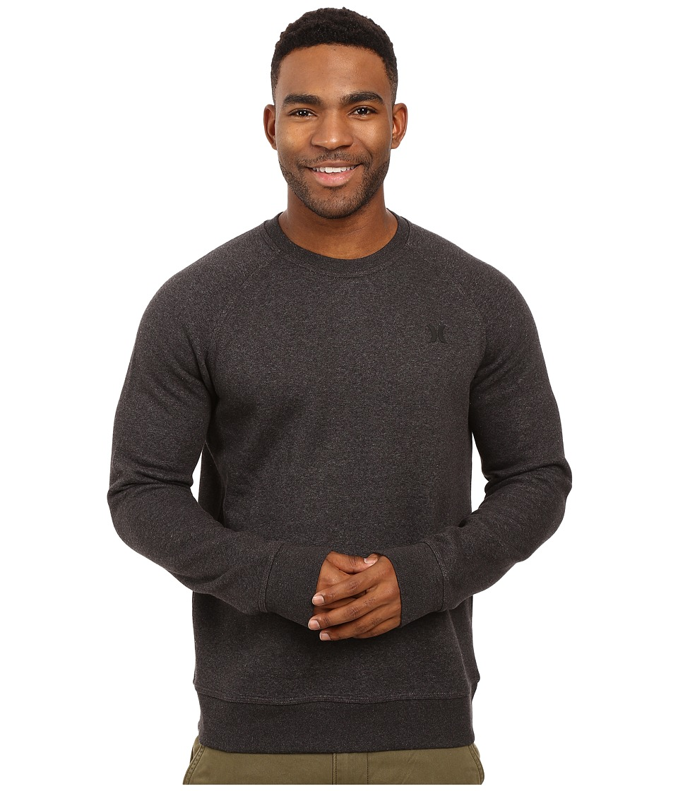 Hurley - Getaway 2.0 Crew (Black) Men's Clothing