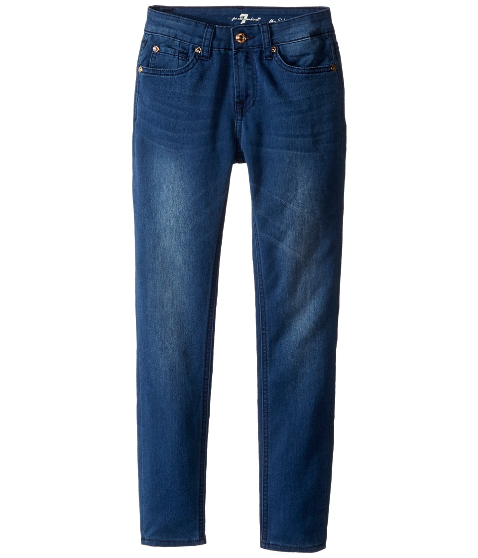 7 For All Mankind Kids - The Skinny Five-Pocket Denim Jeans in Medium Heritage (Big Kids) (Medium Heritage) Girl's Jeans