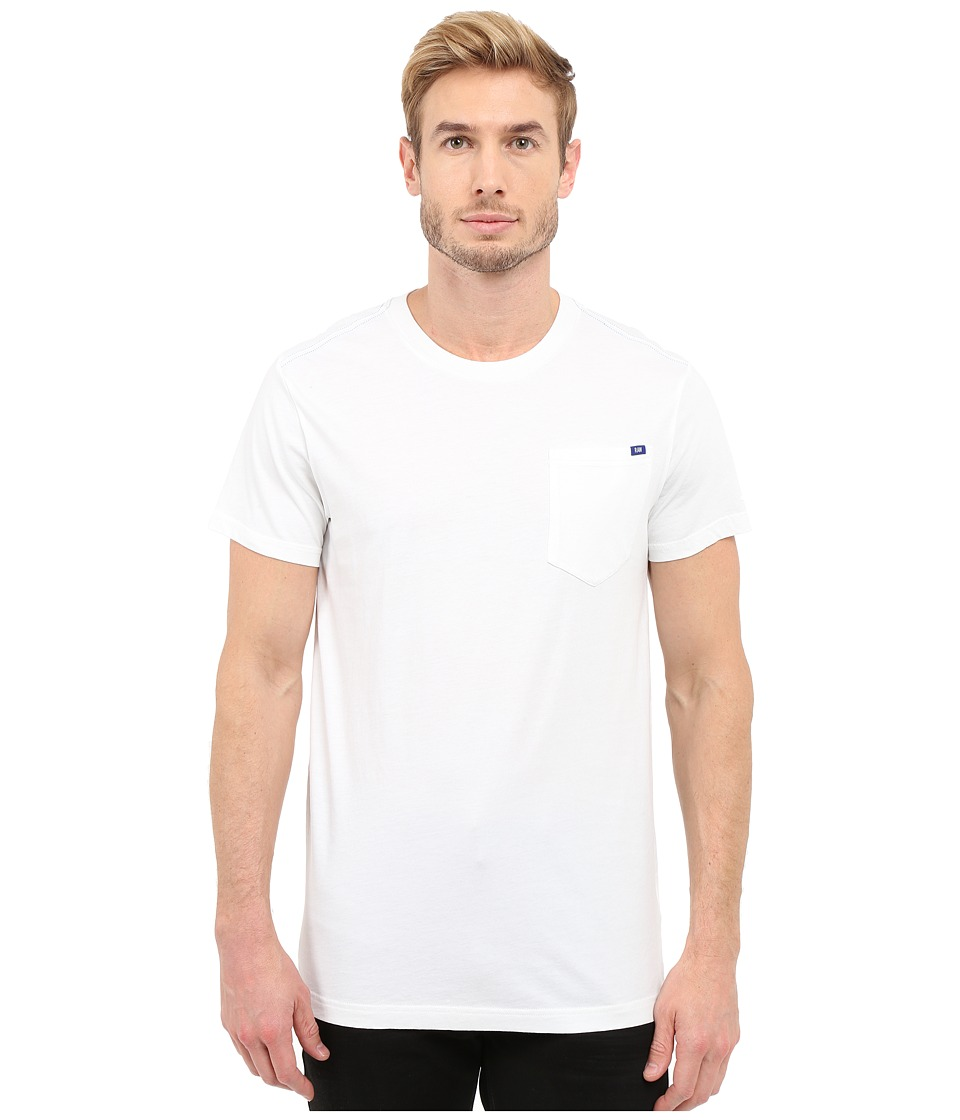 G-Star - Ratiz Short Sleeve Pocket Tee in Compact Jersey (White) Men's Short Sleeve Pullover
