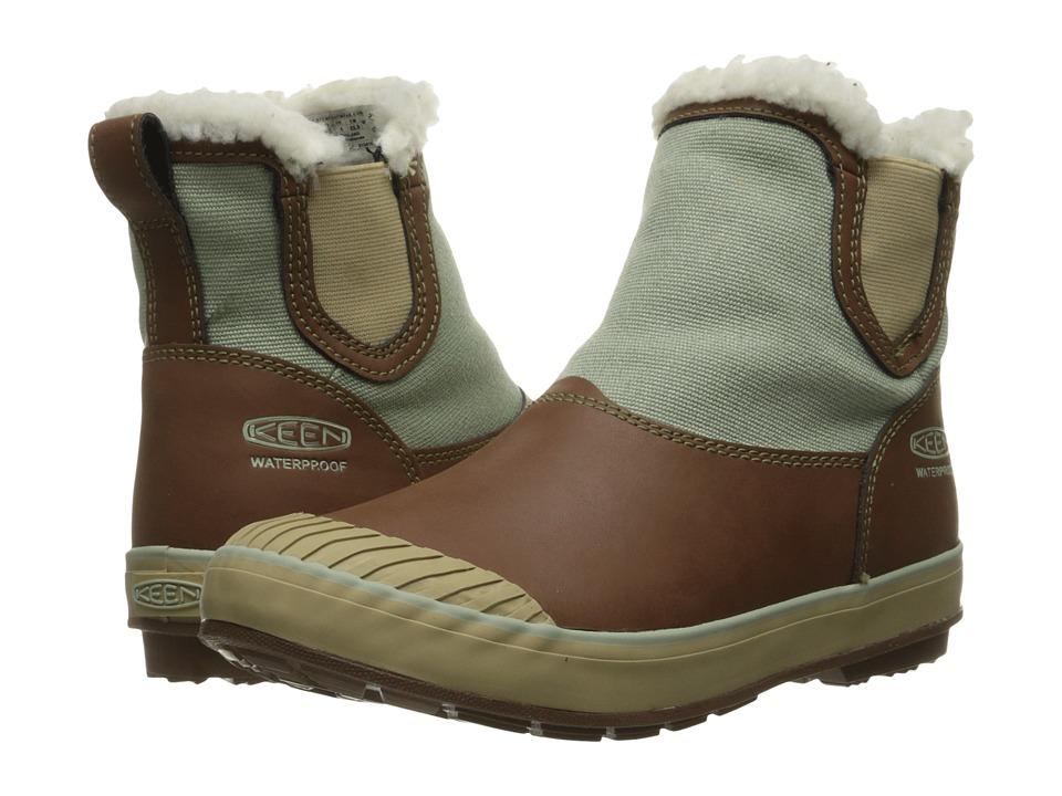 Keen - Elsa Chelsea Waterproof (Cocoa/Desert Sage/Black) Women's Waterproof Boots