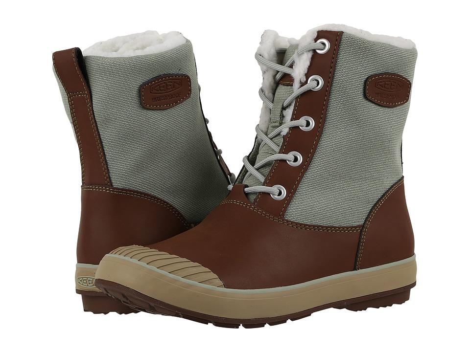 Keen - Elsa Boot WP (Cocoa/Desert Sage) Women's Waterproof Boots