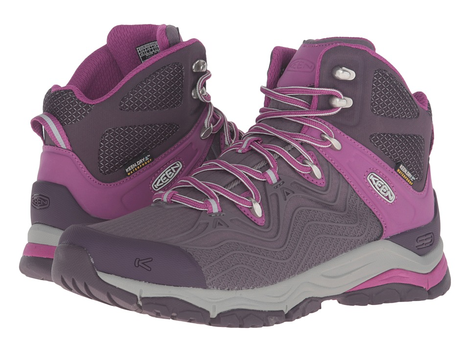 Keen - Aphlex Mid Waterproof (Plum/Shark) Women's Waterproof Boots