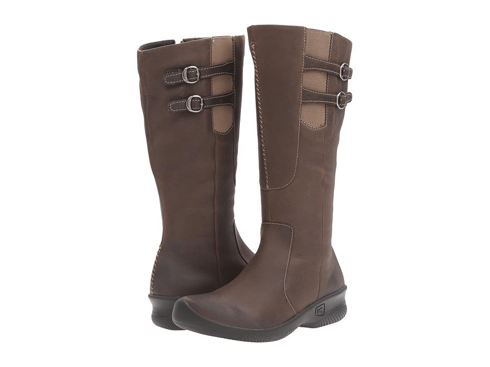Keen - Bern Baby Wide Calf (Oatmeal) Women's Zip Boots
