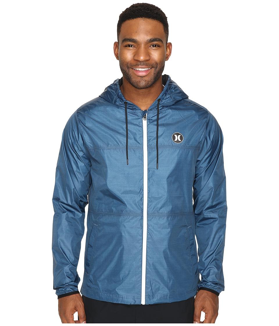 Hurley - Blocked Runner 2.0 Jacket (Squadron Blue) Men's Coat