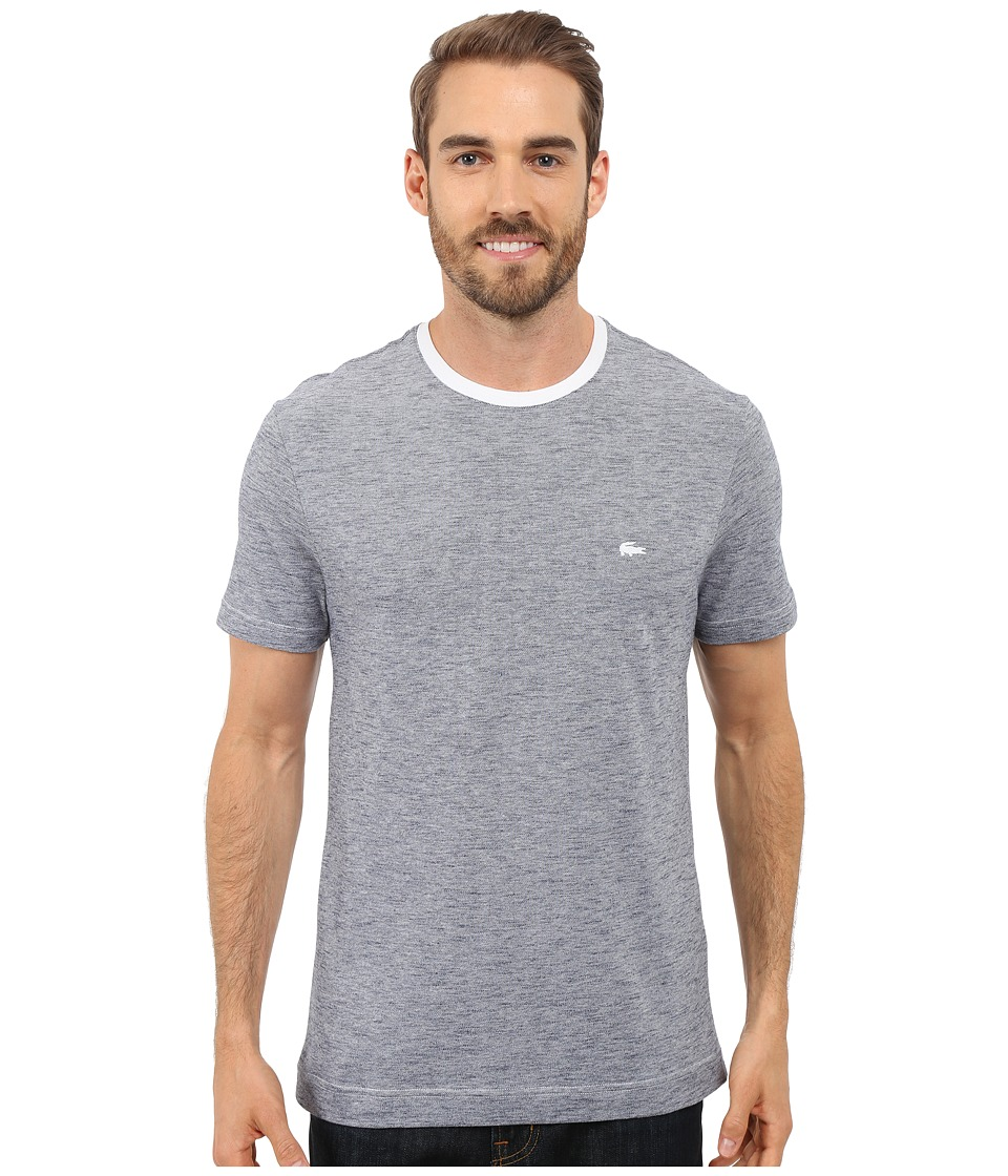 Lacoste - Heather Piqu Casual T-Shirt (White/Mineral Mouline) Men's T Shirt
