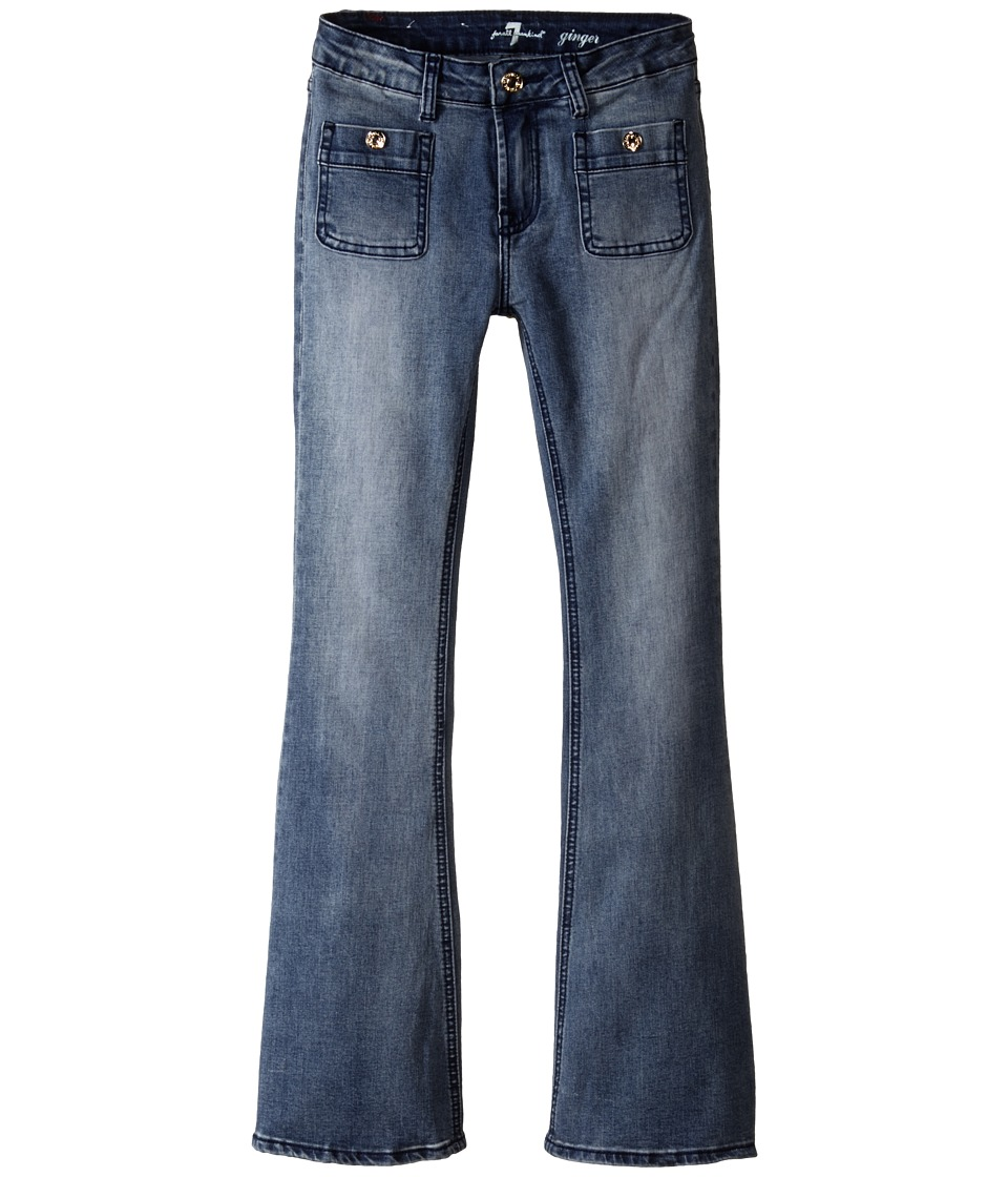 7 For All Mankind Kids - Ginger Wide Leg Jeans in Swiss Alps (Big Kids) (Swiss Alps) Girl's Jeans