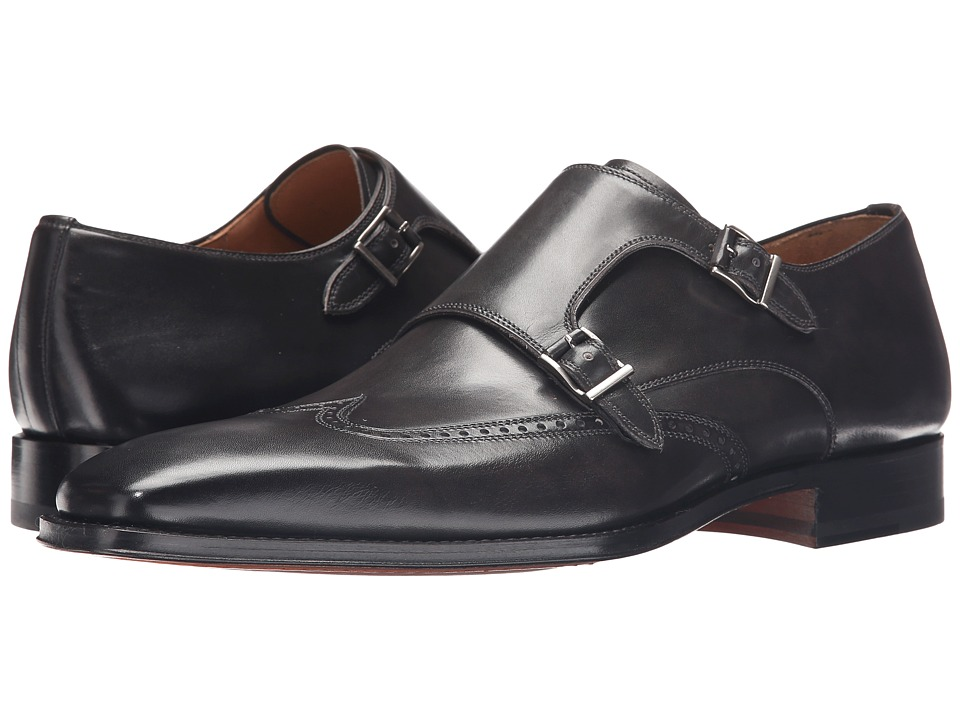 Magnanni - Logan (Grey) Men's Monkstrap Shoes