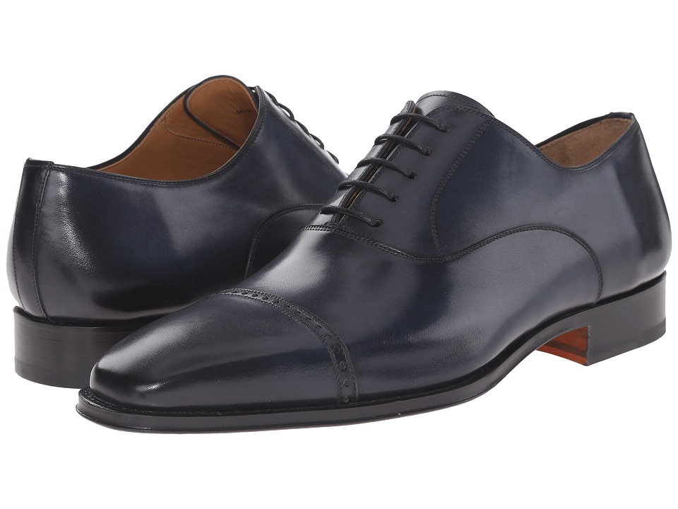 Magnanni - Ethan (Navy) Men's Lace Up Cap Toe Shoes