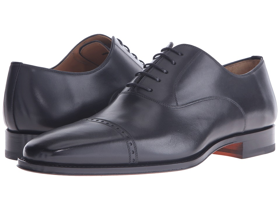 Magnanni - Ethan (Black) Men's Lace Up Cap Toe Shoes