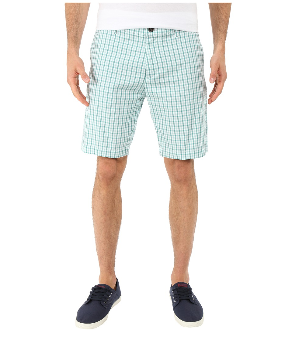 Lacoste - Woven Check Pattern Short (White/Alpine Green/Galapagos) Men's Shorts