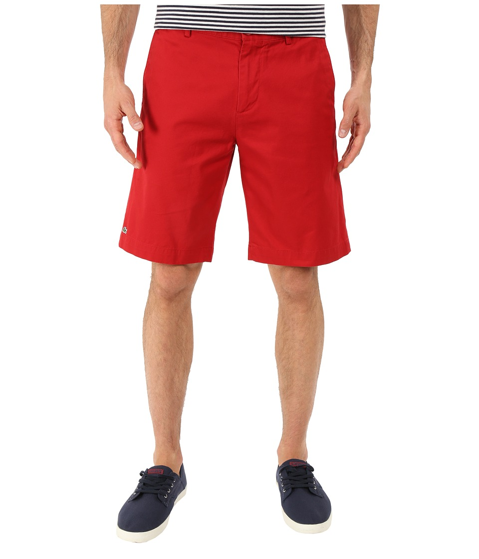 Lacoste - Classic Fit Bermuda Short 10 (Lighthouse Red) Men's Shorts