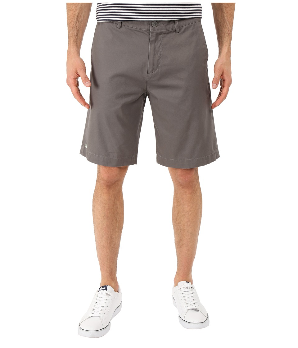 Lacoste - Classic Fit Bermuda Short 10 (Lead Grey) Men's Shorts