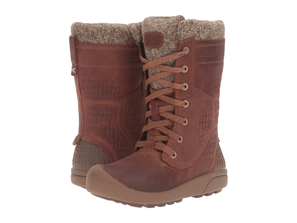 Keen - Fremont Lace Tall Waterproof (Whiskey) Women's Waterproof Boots