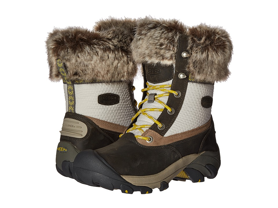 Keen - Hoodoo III Low Waterproof (Gargoyle/Warm Olive) Women's Waterproof Boots