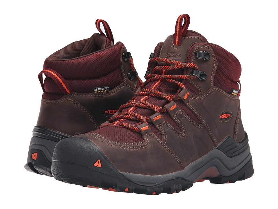 Keen - Gypsum II Mid Waterproof (Cocoa/Tiger Lilly) Women's Waterproof Boots