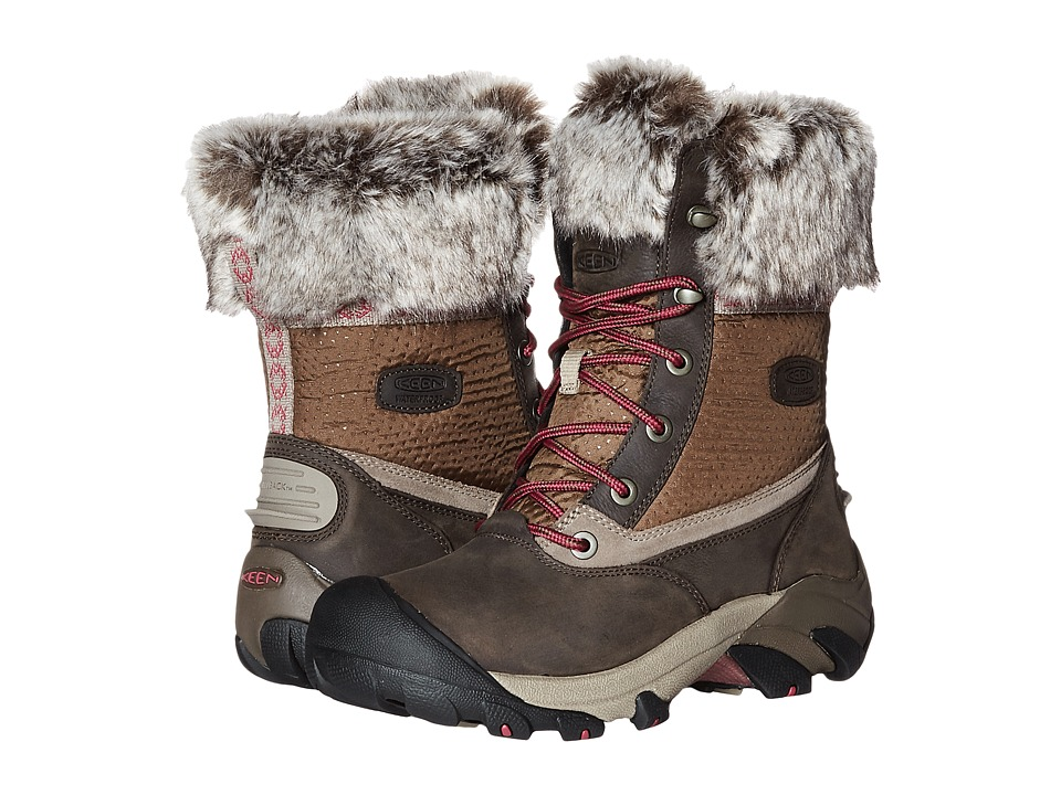 Keen - Hoodoo III Low Waterproof (Cascade Brown/Sangria) Women's Waterproof Boots