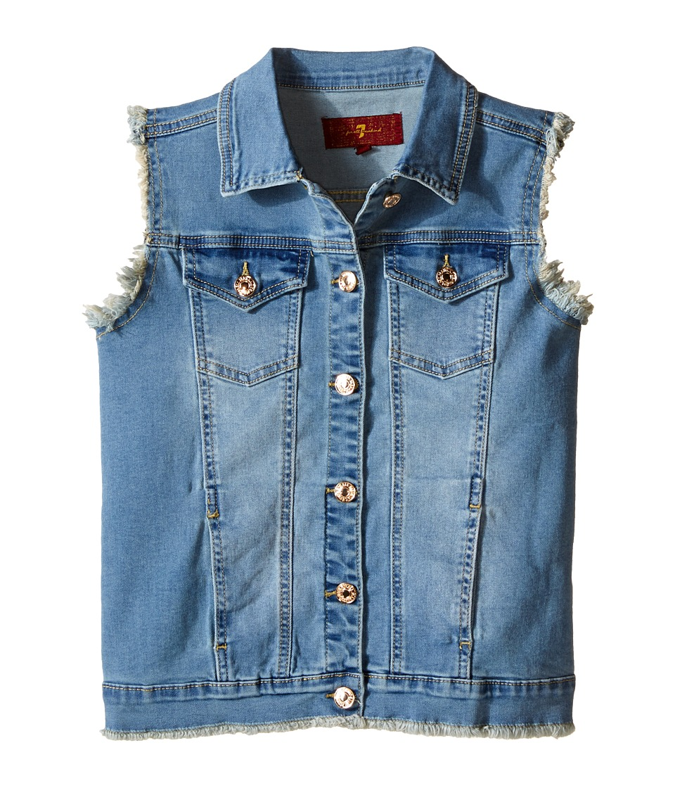 7 For All Mankind Kids - Slim Illusion Denim Vest (Big Kids) (Slim Illusion Bright Ice) Girl's Vest