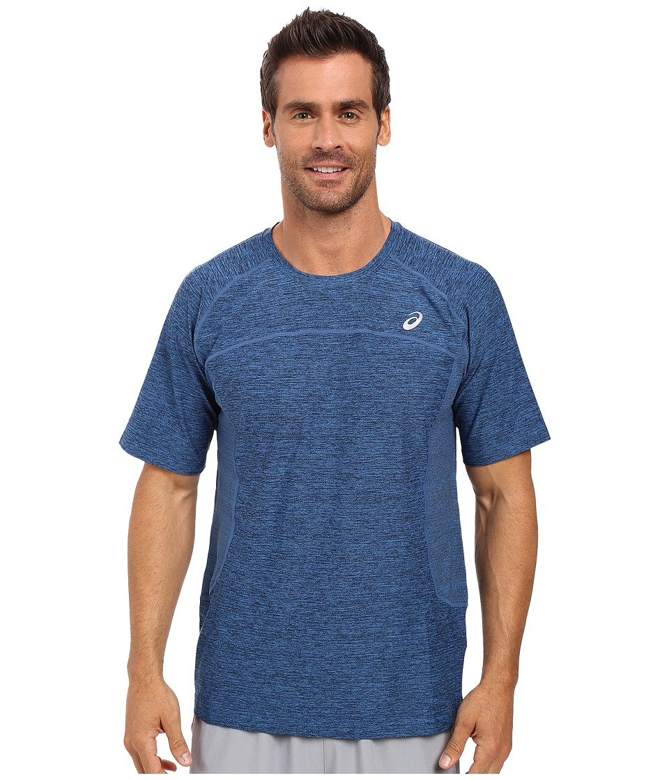 ASICS - Lite-Show Short Sleeve (Imperial Blue Heather) Men's T Shirt