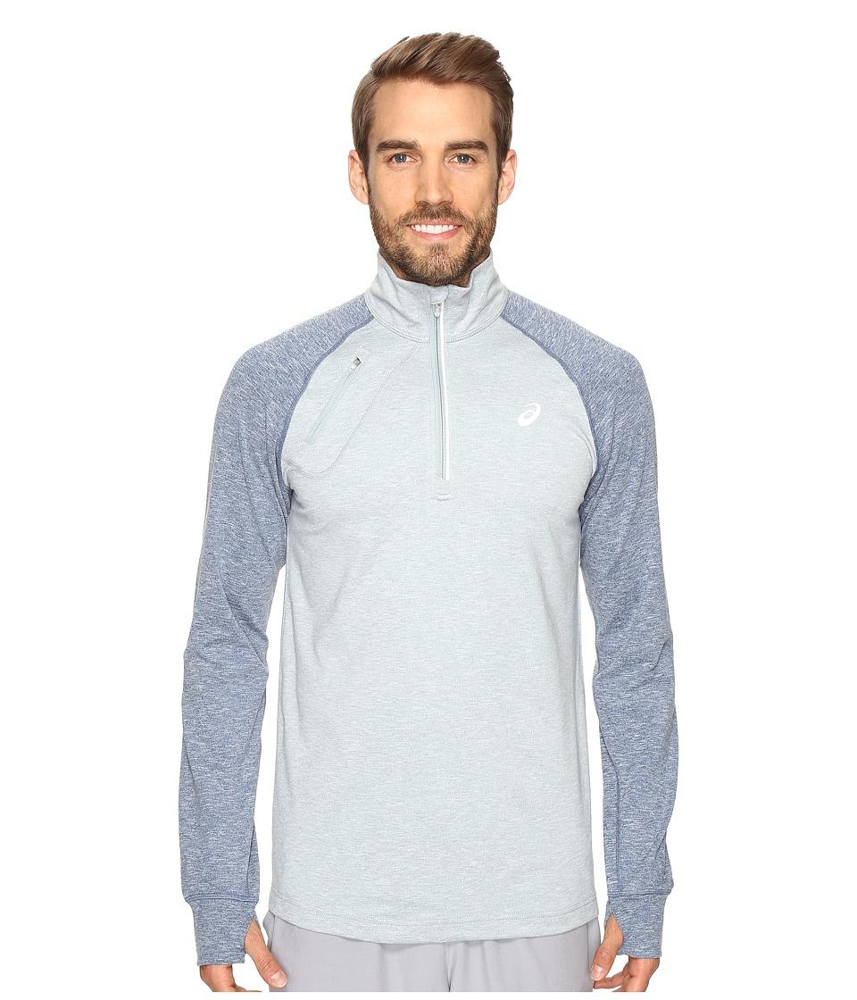 ASICS - Thermopolis 1/2 Zip (Arona Heather/Poseidon Heather) Men's Clothing