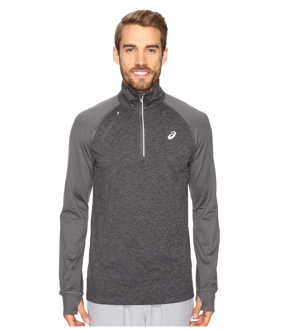 ASICS - Thermopolis 1/2 Zip (Heather Gray/Iron Gray) Men's Clothing