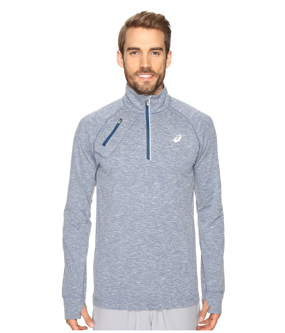 ASICS - Thermopolis 1/2 Zip (Poseidon Heather) Men's Clothing